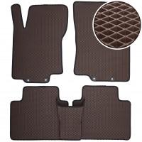 Коврики в салон для Nissan X-Trail (T32) '14-, EVA-полимерные, коричневые (Kinetic)