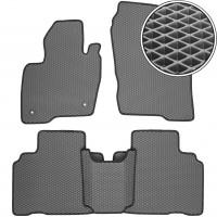 Коврики в салон для Ford Edge '16-, EVA-полимерные, серые с черной тесьмой (Kinetic)