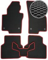 Фото 1 - Коврики в салон для Volkswagen Jetta VI '10-, EVA-полимерные, черные с красной тесьмой (Kinetic)