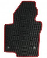 Фото 3 - Коврики в салон для Volkswagen Jetta VI '10-, EVA-полимерные, черные с красной тесьмой (Kinetic)
