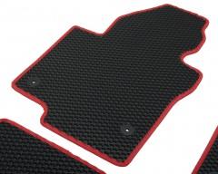 Фото 7 - Коврики в салон для Volkswagen Jetta VI '10-, EVA-полимерные, черные с красной тесьмой (Kinetic)