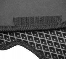 Фото 10 - Коврики в салон для Peugeot 307 '01-07, EVA-полимерные, черные с серой тесьмой (Kinetic)