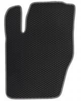 Фото 3 - Коврики в салон для Peugeot 307 '01-07, EVA-полимерные, черные с серой тесьмой (Kinetic)