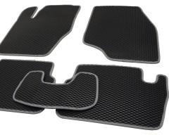 Фото 9 - Коврики в салон для Peugeot 307 '01-07, EVA-полимерные, черные с серой тесьмой (Kinetic)