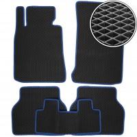 Коврики в салон для BMW 5 E39 '96-03, EVA-полимерные, черные с синей тесьмой (Kinetic)
