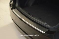 Накладка с загибом на бампер для Audi A4 (B8) '08-15 универсал (Premium)