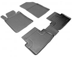 Коврики в салон для Peugeot 508 '11- полиуретановые, черные (Nor-Plast)