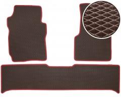 Коврики в салон для UAZ (УАЗ) 3163 Patriot '05-, EVA-полимерные, коричневые с красной тесьмой (Kinetic)