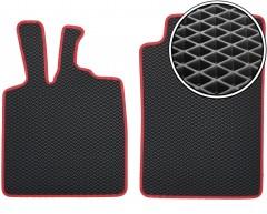 Коврики в салон для Mercedes Smart Fortwo '08-14, EVA-полимерные, черные с красной тесьмой (Kinetic)