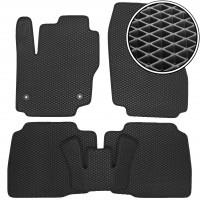 Коврики в салон для Ford Mondeo '07-14 (круглые клипсы), EVA-полимерные, черные (Kinetic)