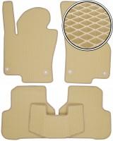 Коврики в салон для Volkswagen Passat CC '09-16, EVA-полимерные, бежевые (Kinetic)