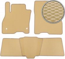 Коврики в салон для Nissan Leaf '10-17, EVA-полимерные, бежевые (Kinetic)