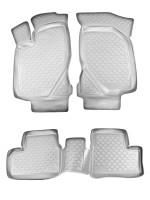 Коврики в салон для Lada Калина 1117-19 '04-13 полиуретановые, серые (L.Locker)