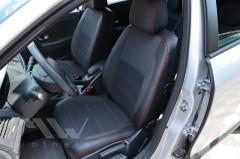 Авточехлы Premium для салона Renault Megane 3 Grandtour '08-16 универсал, красная строчка (MW Brothers)