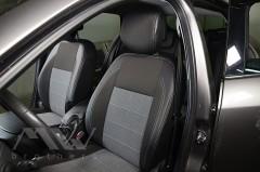 Авточехлы Premium для салона Renault Megane 3 Grandtour '08-16 универсал, серая строчка (MW Brothers)