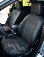 Авточехлы Premium для салона Mazda 6 '02-08 хетчбэк/универсал, серая строчка (MW Brothers)