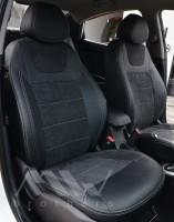 Авточехлы Leather Style для салона Hyundai Accent (Solaris) '11-17 седан, с цельной спинкой (MW Brothers)
