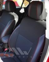Авточехлы Premium для салона Chevrolet Cruze '09-16 универсал/хетчбэк, красная строчка (MW Brothers)