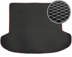 Коврик в багажник для Kia Ceed '06-12 универсал, EVA-полимерный, черный с красной тесьмой (Kinetic)
