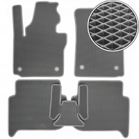 Коврики в салон для Volkswagen Touran '10-15, EVA-полимерные, серые (Kinetic)