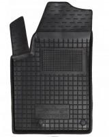 Коврик в салон водительский для Peugeot Partner '97-02 резиновый, черный (AVTO-Gumm)