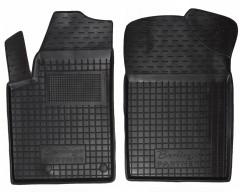 Коврики в салон передние для Peugeot Partner '97-02 резиновые, черные (AVTO-Gumm)
