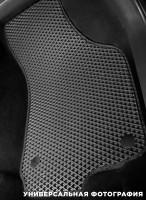 Фото 13 - Коврики в салон для Volkswagen Polo '10- седан, EVA-полимерные, черные с синей тесьмой (Kinetic)