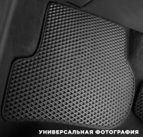 Фото 14 - Коврики в салон для Volkswagen Polo '10- седан, EVA-полимерные, черные с синей тесьмой (Kinetic)
