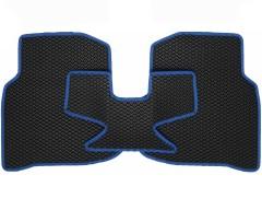 Фото 5 - Коврики в салон для Volkswagen Polo '10- седан, EVA-полимерные, черные с синей тесьмой (Kinetic)