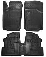 Коврики в салон для Opel Combo '01-12, резиновые, черные (AVTO-Gumm)
