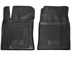 Коврики в салон передние для Kia Ceed '19-, резиновые, черные (AVTO-Gumm)