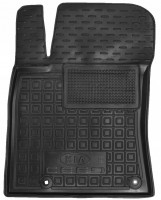 Коврик в салон водительский для Kia Ceed '19-, резиновый, черный (AVTO-Gumm)