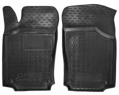 Коврики в салон передние для Opel Combo '01-12, резиновые, черные (AVTO-Gumm)