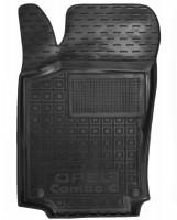 Коврик в салон водительский для Opel Combo '01-12, резиновый, черный (AVTO-Gumm)