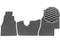 Коврики в салон передние для Mercedes Sprinter '95-06, КПП из пола EVA-полимерные, серые (Kinetic)