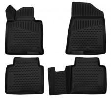 Коврики в салон 3D для Hyundai Sonata '17-, полиуретановые (Novline / Element)