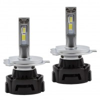 Автомобильные светодиодные лампочки ALed серия R H4 6000K (2шт)