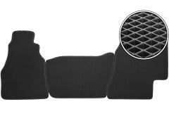 Коврики в салон передние для Mercedes Sprinter '95-06, EVA-полимерные, черные (Kinetic)