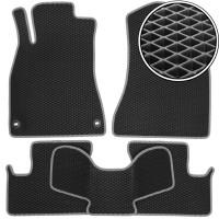 Коврики в салон для Lexus IS '05-13, 2WD EVA-полимерные, черные с серой тесьмой (Kinetic)