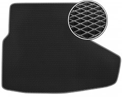 Коврик в багажник для Lexus IS 250 '05-13, EVA-полимерный, черный с серой тесьмой (Kinetic)