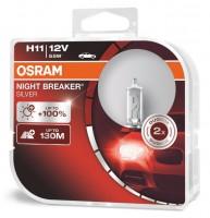 Автомобильные лампочки Osram Night Breaker Silver H11 55W 12V (Комплект: 2шт.)