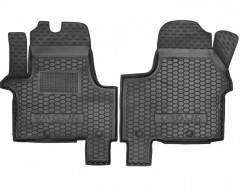 Коврики в салон передние для Opel Vivaro '15- резиновые, черные (AVTO-Gumm)