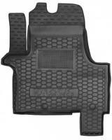 Коврик в салон водительский для Opel Vivaro '15- резиновый, черный (AVTO-Gumm)