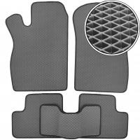 Коврики в салон для Lada (Ваз) 2113-15 '97-12, EVA-полимерные, серые с черной тесьмой (Kinetic)