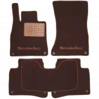 Коврики в салон для Mercedes S-Class W222 '13- Long текстильные, коричневые (Премиум), 8 клипс