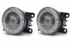 Противотуманные фары для Suzuki SX4 '11-14, светодиодные с DRL (Dlaa)