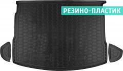 Коврик в багажник для Nissan Qashqai '06-10 с полноразерным зап. колесом резино-пластиковый (AVTO-Gumm)