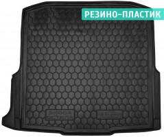Коврик в багажник для Skoda Octavia A7 '13- универсал, с боксом усилит. резино-пластиковый (AVTO-Gumm)