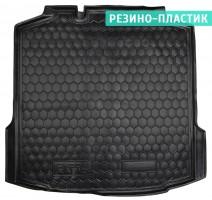 Коврик в багажник для Skoda Rapid '13- резино-пластиковый (AVTO-Gumm)