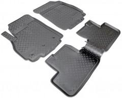 Коврики в салон для Chevrolet Orlando '11- полиуретановые, черные (Nor-Plast) 1+2 ряд сидений